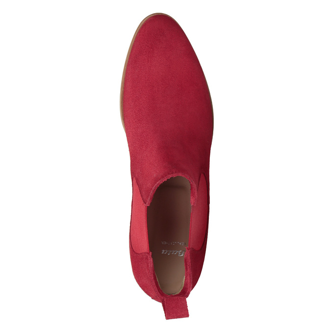 Kožená kotníčková obuv červená bata, červená, 593-5611 - 19