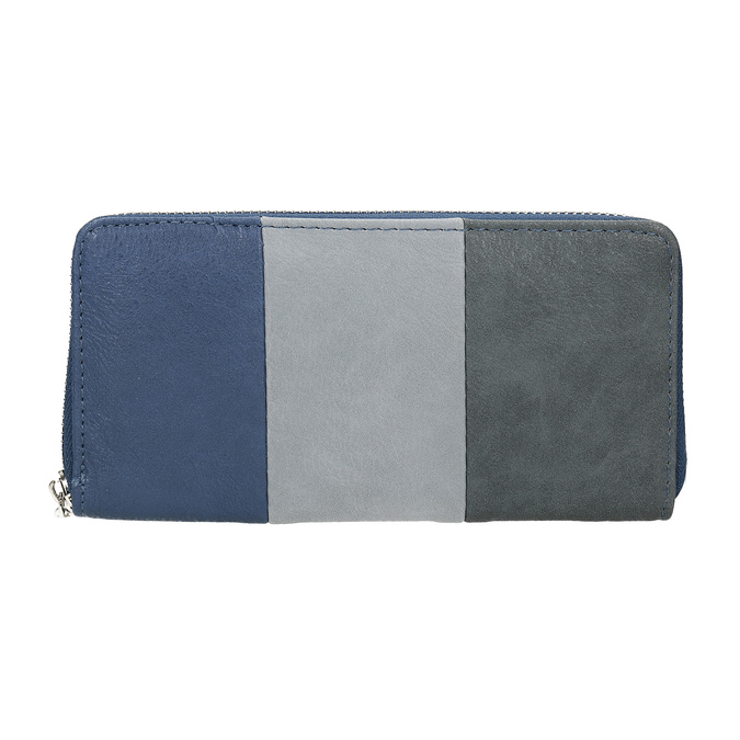 Dámská peněženka na zip bata, modrá, 941-9216 - 26