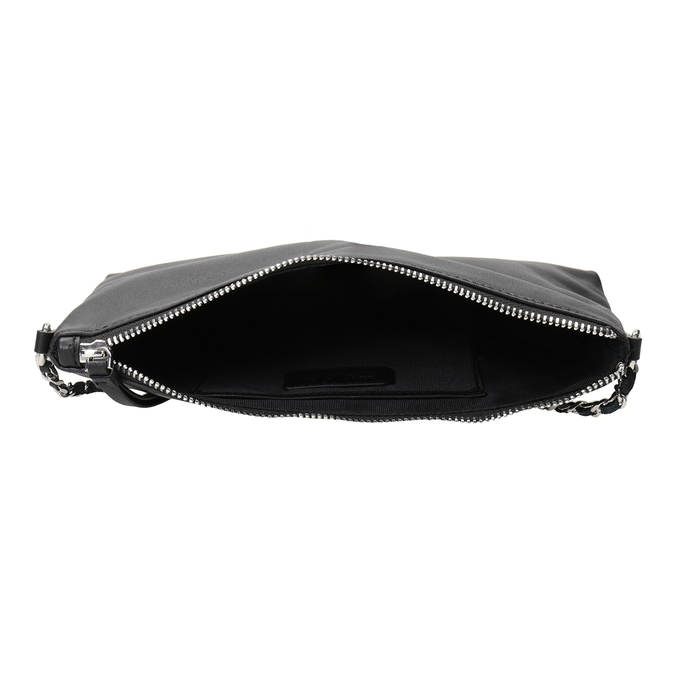 Černá kožená Crossbody kabelka bata, černá, 964-6292 - 15