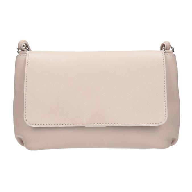 Krémová kožená kabelka bata, růžová, 964-9291 - 26
