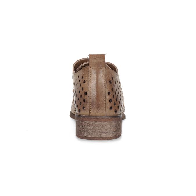 Dámské polobotky s perforací bata, 521-4610 - 15