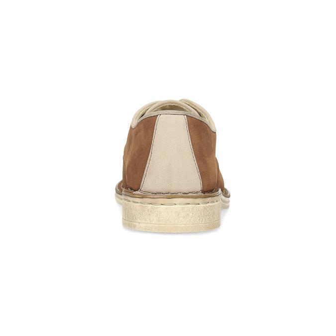 Dámské kožené polobotky v ležérním stylu bata, hnědá, 526-4652 - 15