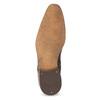 Pánské kožené polobotky se strukturou bata, hnědá, 826-3825 - 18