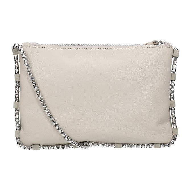 Kožená dámská Crossbody kabelka bata, šedá, 963-1193 - 16