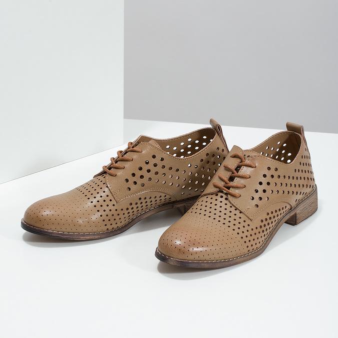 Dámské polobotky s perforací bata, 521-4610 - 16