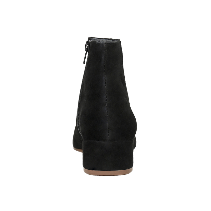 Kotníčové kozačky z broušené kůže vagabond, černá, 613-6040 - 16
