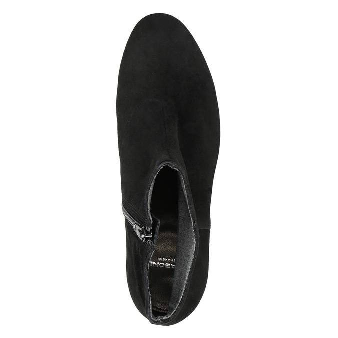 Kotníčové kozačky z broušené kůže vagabond, černá, 613-6040 - 15