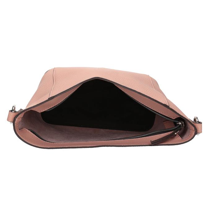 Dámská kabelka s prošíváním bata, růžová, 961-5842 - 15