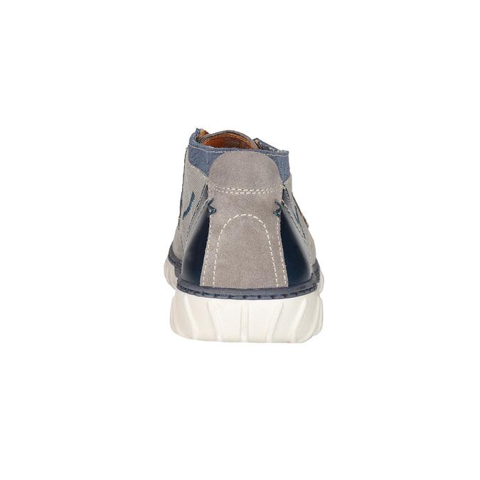 Kotníčková pánská obuv bata, šedá, 843-2633 - 15