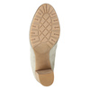 Kotníčkové kozačky s perforací bata, béžová, 791-2615 - 17