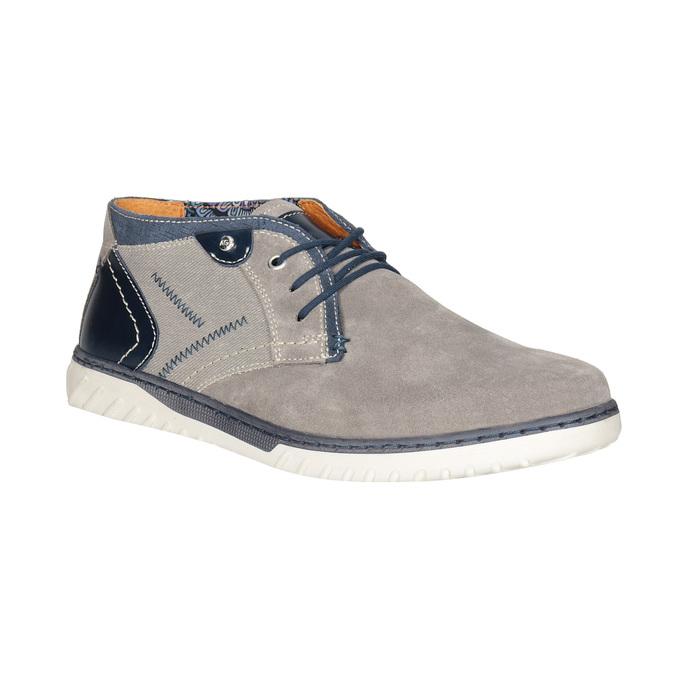 Kotníčková pánská obuv bata, šedá, 843-2633 - 13