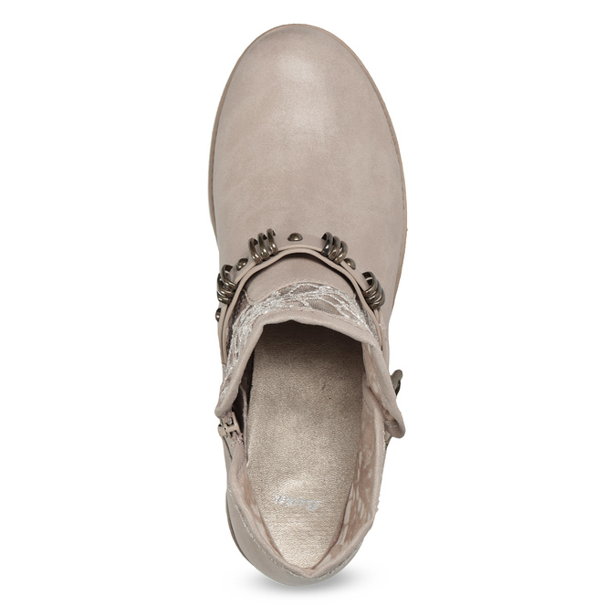 Dámské kozačky s krajkou bata, šedá, 591-2628 - 17