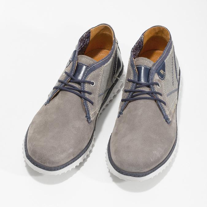Kotníčková pánská obuv bata, šedá, 843-2633 - 16