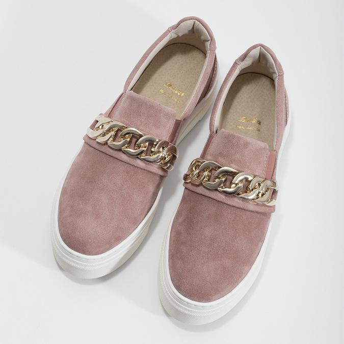 Kožená dámská Slip-on obuv bata, 513-5600 - 16