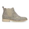 Kožené kotníčkové boty s kovovou aplikací bata, béžová, 596-2690 - 19