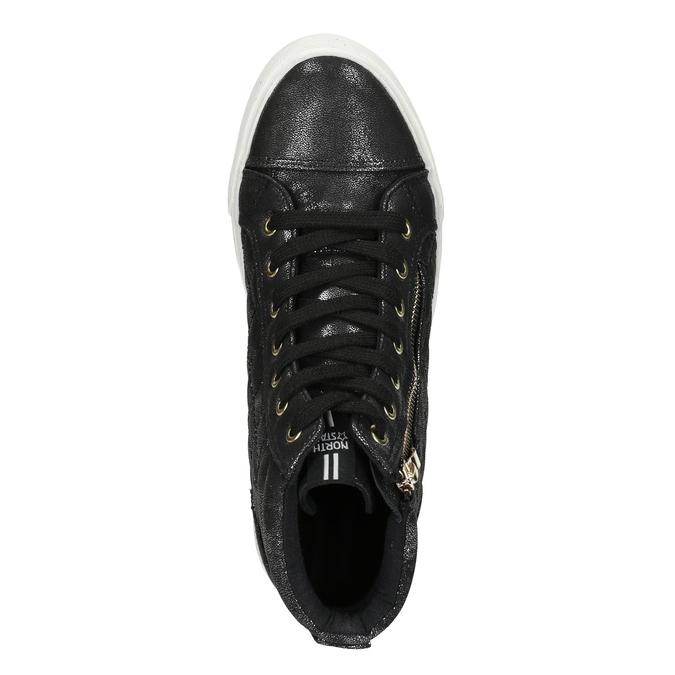 Černé dámské kotníčkové tenisky north-star, černá, 541-6600 - 17