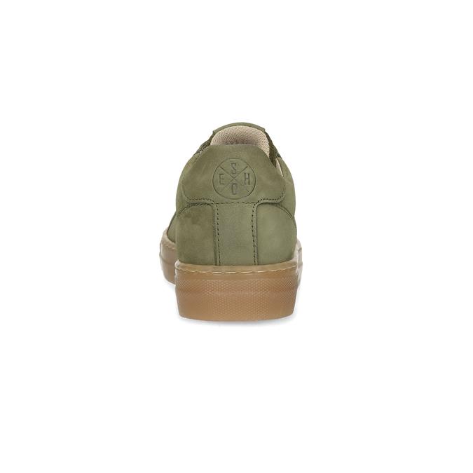 Dětské zelené kožené tenisky mini-b, khaki, 416-7601 - 15