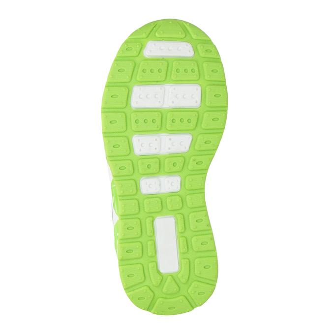 Zelené dětské tenisky s blikající podešví mini-b, šedá, 211-2102 - 17