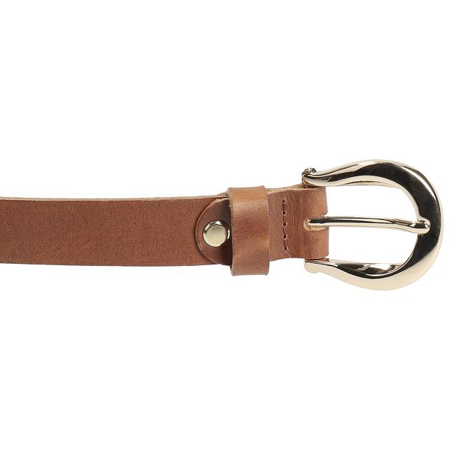 Hnědý kožený opasek dámský bata, hnědá, 954-3202 - 26
