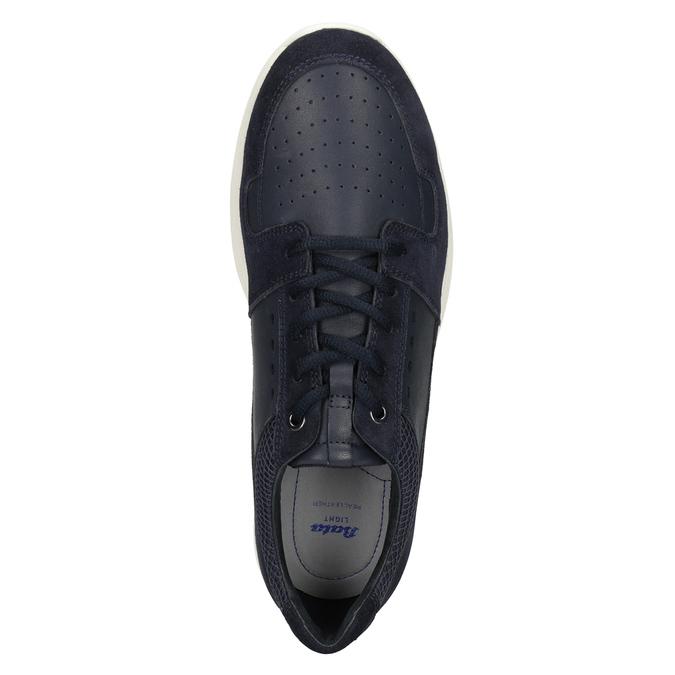 Pánské kožené tenisky bata-light, modrá, 844-9161 - 17