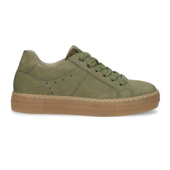Dětské zelené kožené tenisky mini-b, khaki, 416-7601 - 19
