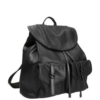 Černý dámský batoh bata, černá, 961-6833 - 13