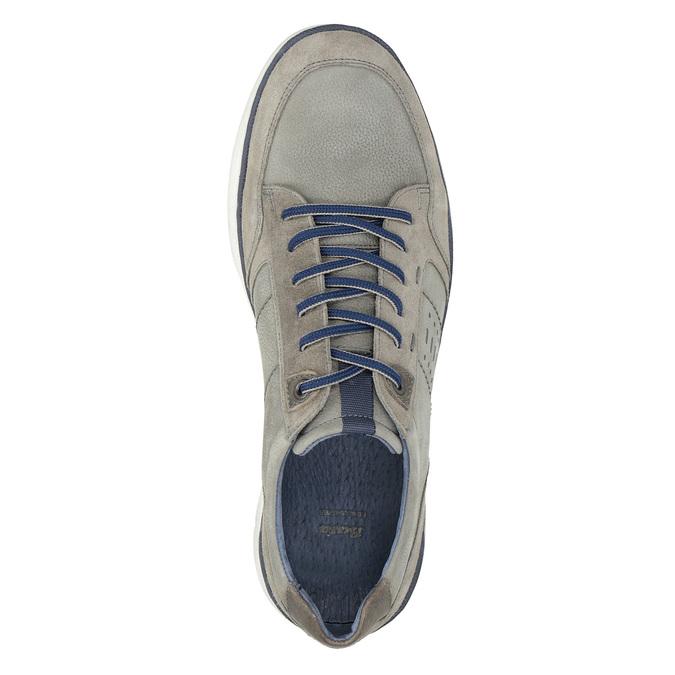 Pánské kožené tenisky bata, šedá, 846-2639 - 17