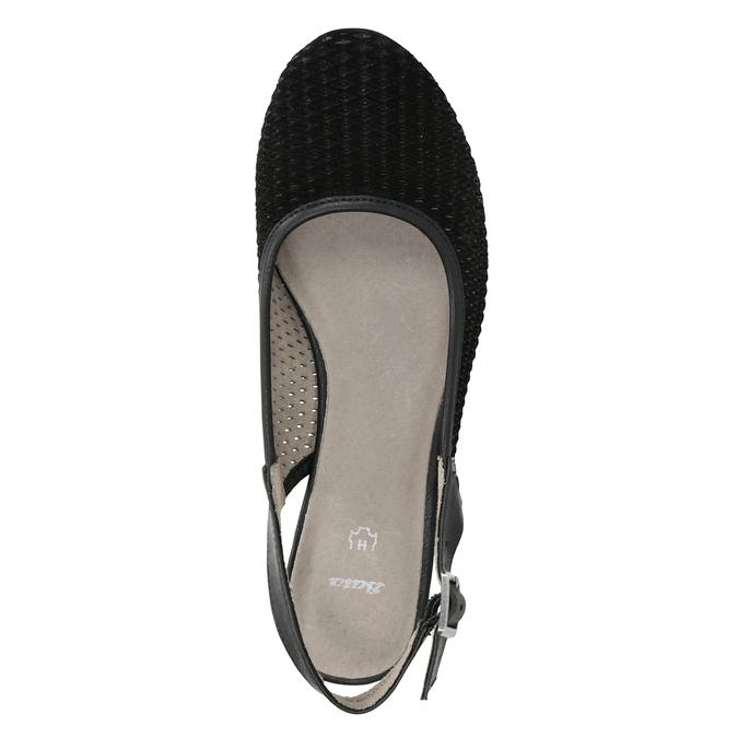 Lodičky šíře H s volnou patou bata, černá, 623-6645 - 15
