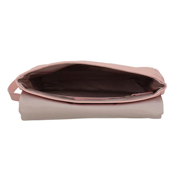 Růžová kožená Crossbody taška vagabond, růžová, 966-8064 - 15