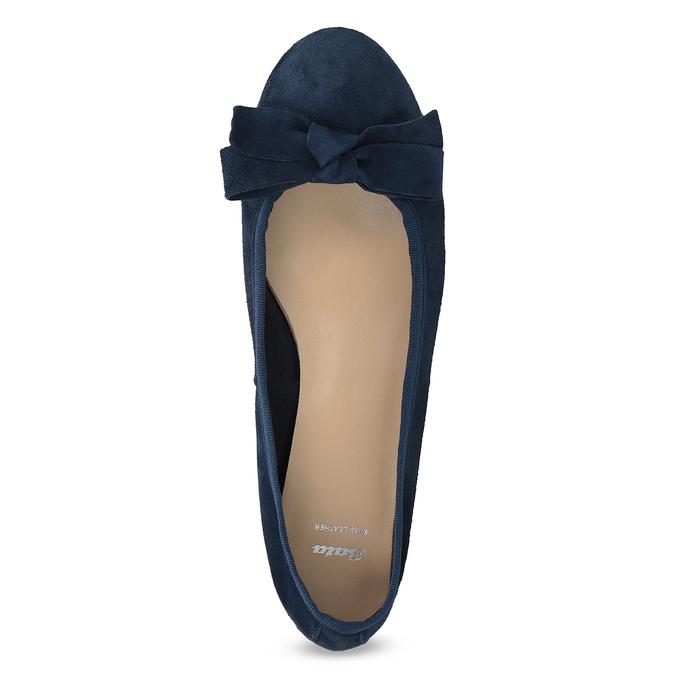 Baleríny z broušené kůže modré bata, modrá, 523-9420 - 17