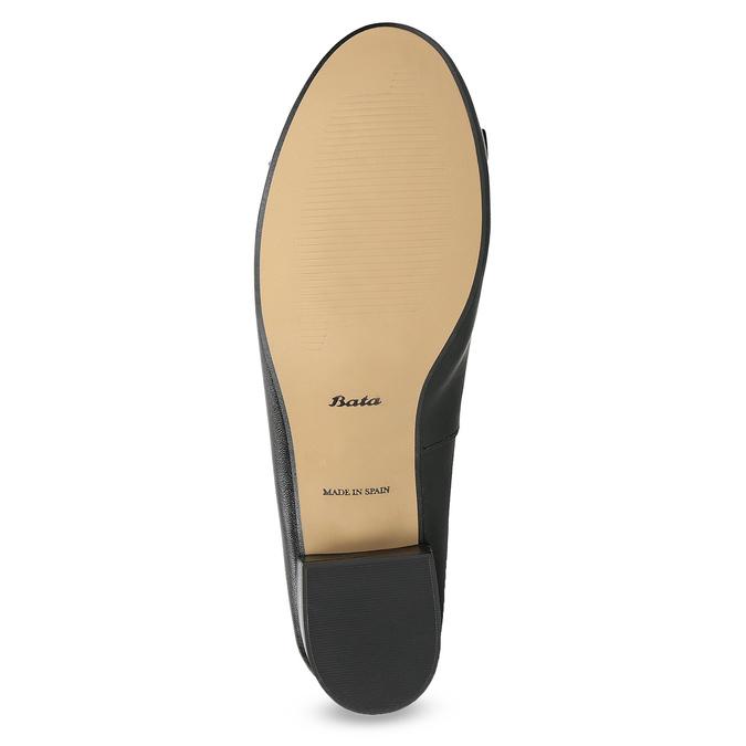 Kožené baleríny s mašlí černé bata, černá, 524-6420 - 18