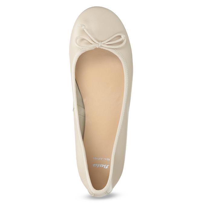 Kožené dámské baleríny béžové bata, béžová, 524-8144 - 17