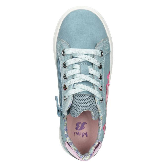 Modré dívčí tenisky s výšivkou mini-b, 321-9381 - 15