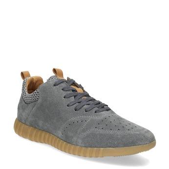 Pánské tenisky z broušené kůže šedé bata, šedá, 843-2634 - 13