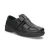 Pánské sandály z kůže pinosos, černá, 864-6626 - 13