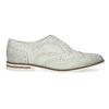 Dámské kožené Brogue polobotky bata, šedá, 526-1649 - 19