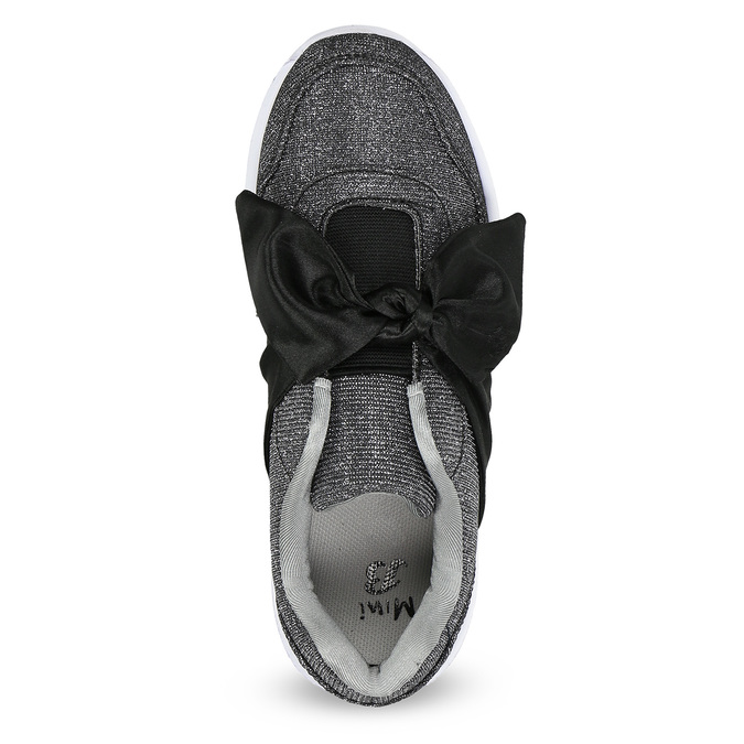 Dívčí tenisky s velkou mašlí mini-b, černá, 329-6341 - 17