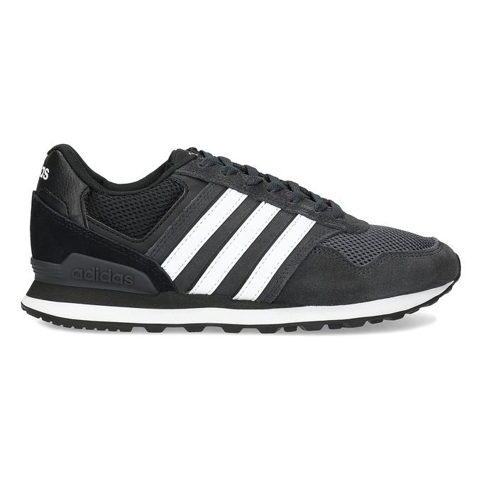 Černé pánské tenisky z broušené kůže adidas, černá, 803-6293 - 19