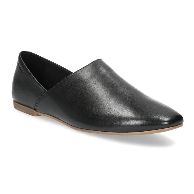 Kožené dámské Slip-on černé vagabond, černá, 514-6096 - 13