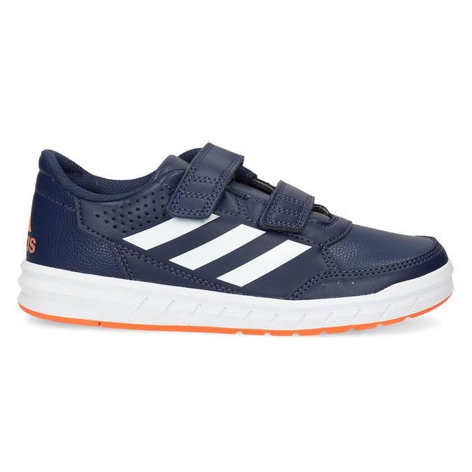 Modré dětské tenisky na suché zipy adidas, modrá, 301-9151 - 19