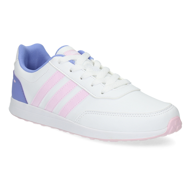 Dívčí bílé tenisky s růžovými detaily adidas, bílá, 401-1181 - 13