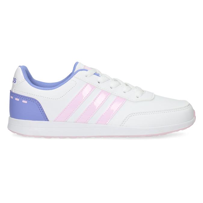 Dívčí bílé tenisky s růžovými detaily adidas, bílá, 401-1181 - 19