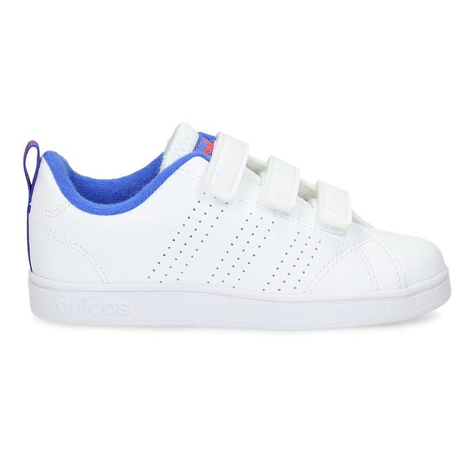 Bílé dětské tenisky na suché zipy adidas, bílá, 301-1968 - 19
