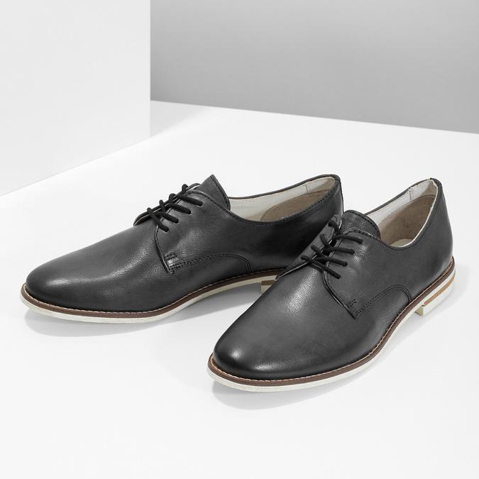 Kožené dámské polobotky bata, černá, 526-6650 - 16