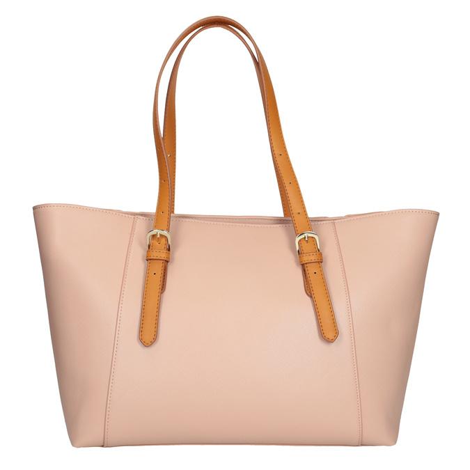 Růžová kabelka s hnědými uchy bata, růžová, 961-5840 - 16