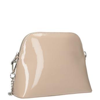 Dámská lakovaná kabelka bata, béžová, 961-8850 - 13