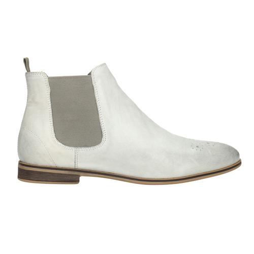 Kožená dámská Chelsea obuv bata, bílá, 596-1684 - 26