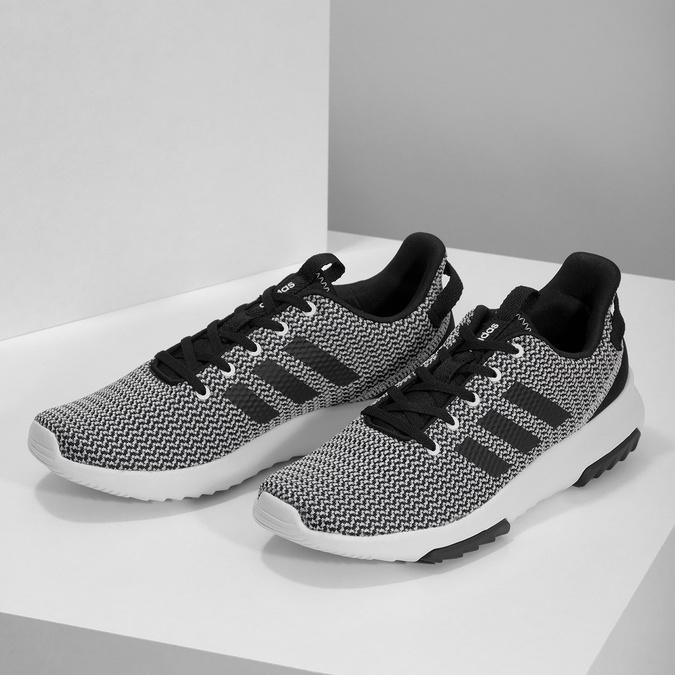 Černo-bílé tenisky s tkaným vzorem adidas, černá, 809-1101 - 16