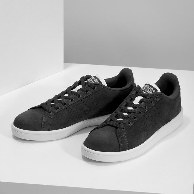 Ležérní tenisky z broušené kůže adidas, černá, 803-6394 - 16