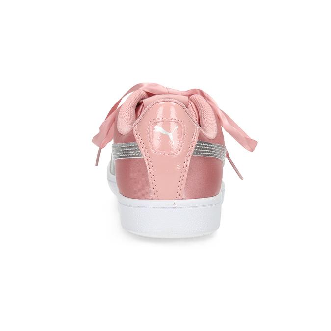 Růžové saténové tenisky s mašlí puma, růžová, 509-5718 - 15